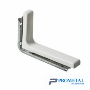 shelf bracket with plastic cover